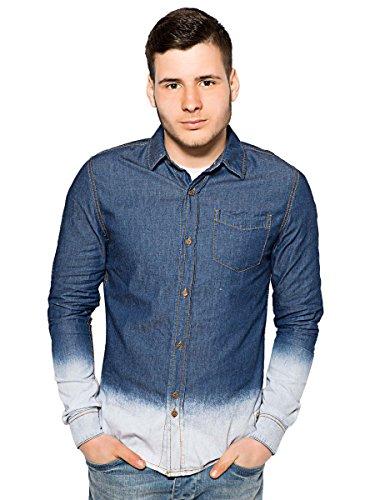 Bell field camicia jeans da uomo | Camicia a maniche lunghe Denim Designer per il tempo libero | S M L XL