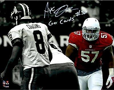 "Alex Okafor Arizona Cardinals Autographed 11""x 14"" Spotlight Photograph with Go Cards Inscription - Fanatics Authentic Certified"