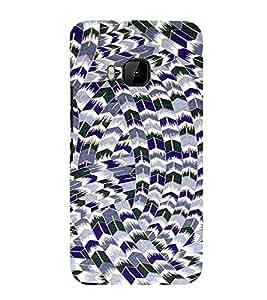 PrintVisa Star Pattern 3D Hard Polycarbonate Designer Back Case Cover for HTC One M9