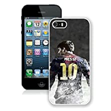buy Soccer Player Lionel Messi(2) White Iphone 5S Phone Case Genuine Custom Cover