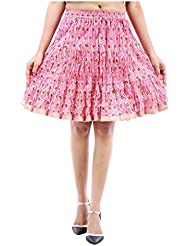 Sunshine Enterprises Women's Cotton Wrap Skirt (Pink)