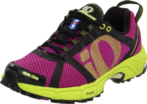 Pearl iZUMi Women's Syncro Fuel Trail II Running Shoe,Orchid/Lime,9.5 D US