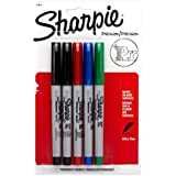Sharpie Ultra Fine Point Permanent Markers, 5 Colored Markers(37675)