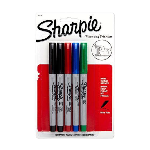 sanford-sharpie-ultra-fine-point-marqueurs-permanents-lot-de-5-bleu-vert-2-noir
