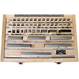 TTC 47 Piece Metric Precision Gage Block Set - Model: 630-0476 SIZE: 1.005mm,1.01 to 1.09mm, 1.1 to 1.9mm, 1 to 24mm, 2 Includes: A wooden case Number of Pieces: 47