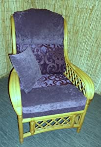 Luxury Cushion Covers for Cane Wicker and Rattan Conservatory and Garden Furniture - Purple & Silky Chenilles - RRP £79.99 by Zippy UK