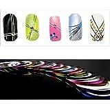 18 Rolls Nail Art UV Gel Tips Striping Tape Line Sticker Decoration