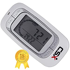 CSX Walking 3D Pedometer Activity Fitness Tracker, White