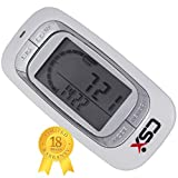 CSX Walking 3D Pedometer with Clip and Strap & Free eBook - Accurate Step Counter, Distance Miles and Km, Calorie Counter, Daily Target Progress Monitor, 7 Day Memory, Exercise Time - White - with Tri-Axis Stepometer Technology | 18 Month Warranty