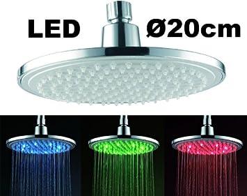 led pluie de douche douche avec clairage sanlingo cuisine maison m213. Black Bedroom Furniture Sets. Home Design Ideas