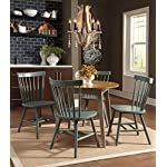 5 Piece Dining Set with Light Green-Blue Chairs by Ashley