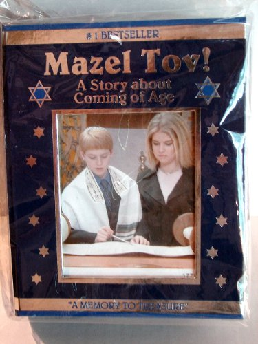 "Mazel Tov! A Story about Coming of Age Photo Keepsake Box ""A Memory To Treasure"""