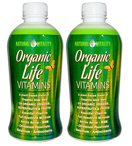 Natural Vitality Organic Life Vitamins, (2 Bottles of 30 Ounce) (Liquid Organic Vitamins compare prices)