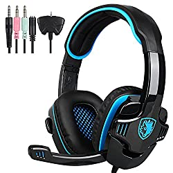 SADES SA-708 GT Computer Gaming Headset Stereo Surround Sound with Microphone, Ideal for Cross Platform Gaming, Compatible with Smartphone PC XBOX-360 XBOX-LIVE PS4