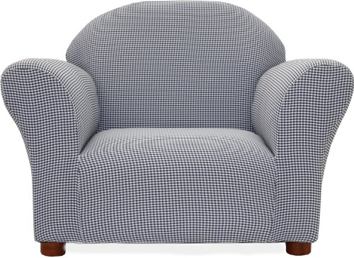 Fantasy Furniture Roundy Chair Gingham, Navy