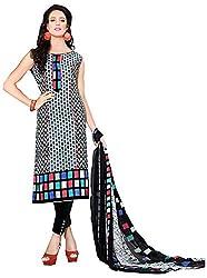 Yati Women's Cotton Unstiched Salwar Suit Dupatta Dress Material (Multi-Coloured, Free Size)