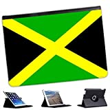 Jamaica Flag For Apple iPad Air Faux Leather Folio Presenter Case Cover Bag with Stand Capability