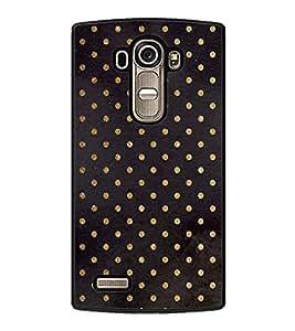 Fuson Premium 2D Back Case Cover Black colour pattern With blue Background Degined For LG G4::LG G4 H815