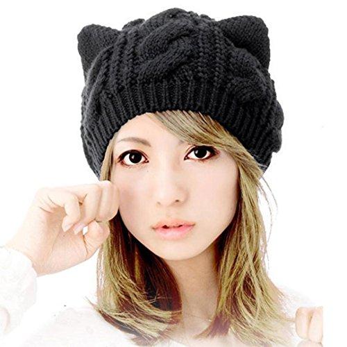 Bonnet-Koly-Oreilles-De-Chat-Chanvre-Fleurs-Bonnet-Cute-Girl-Femmes-Cap-Laine-Bonnet-De-Coton