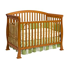 DaVinci Thompson 4 in 1 Crib with Toddler Rail, Oak