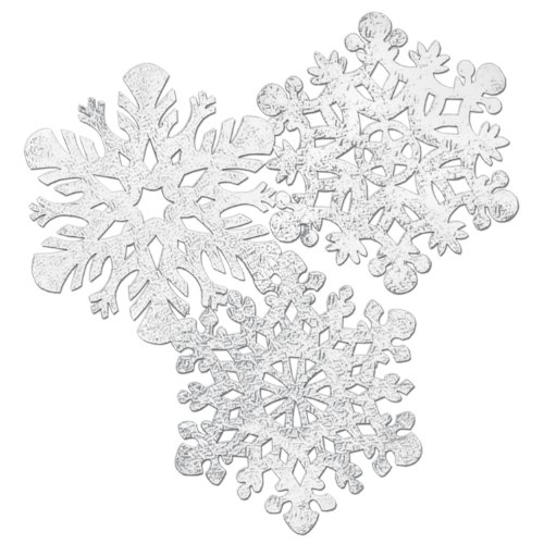 Beistle 4-Pack Packaged Foil Snowflake Cutouts, 14-Inch