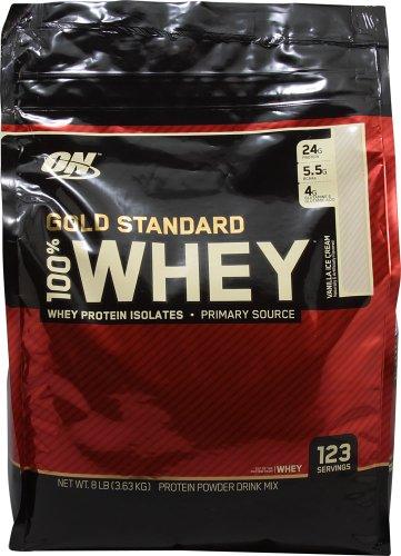Optimum Nutrition 100% Whey Gold Standard, 8 Pound Vanilla Ice Cream