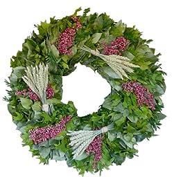 Village Market Flower Wreath 22 inches