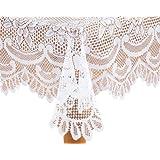 WalterDrake White Rose Lace Tablecloth