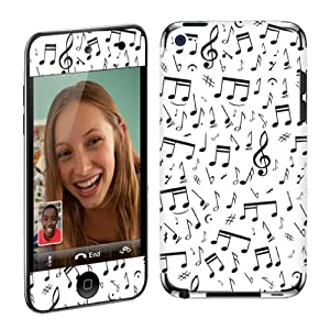 Apple iPod Touch 4G (4th Generation) Vinyl Protection Decal Skin Music Note White