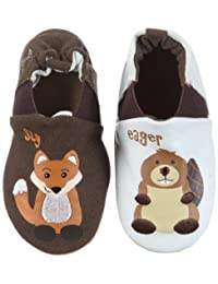 Robeez Sly Fox Eager Beaver First Walking Shoes