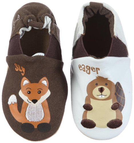 Robeez Sly Fox Eager Beaver First Walking Shoes (0-6 Months) front-834031