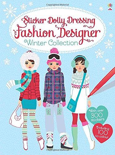 Sticker Dolly Dressing Fashion Designer. Winter Collection