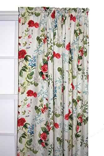 floral taffeta rod pocket curtain price comparison on floral