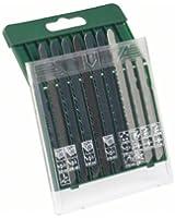 Bosch 2607019461 Set de 10 lames de scie sauteuse emmanchement T