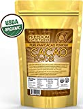 #1 Cacao Powder Raw Organic - Best Dark Chocolate Taste - Natural Unsweetened Cocoa Powder - 1lb/ 16oz - FREE Special Bonus ebook Included - USDA Certified Organic Cold-Pressed Beans - An Antioxidant Rich Superfood, Packed with Magnesium, Potassium, Iron other Nutrients that can Help Keep you Healthy, Happy, Energized & Relaxed - Satisfaction Guaranteed.