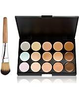 Palette 15 Couleurs Correcteur Crème Camouflage Anti-cernes Fond Teint Yeux Pro