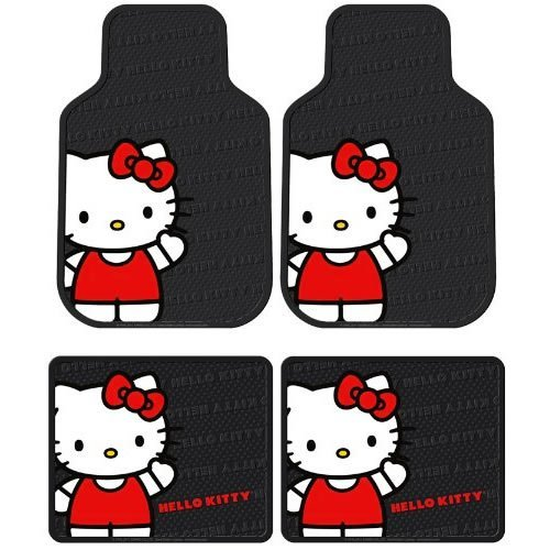 Plasticolor-Hello-Kitty-Sanrio-Waving-Front-Rear-Car-Truck-SUV-Seat-Rubber-Floor-Mats