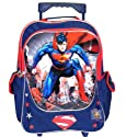 "16"" Large Dc Comics Superman Man of Steel Roller Backpack"