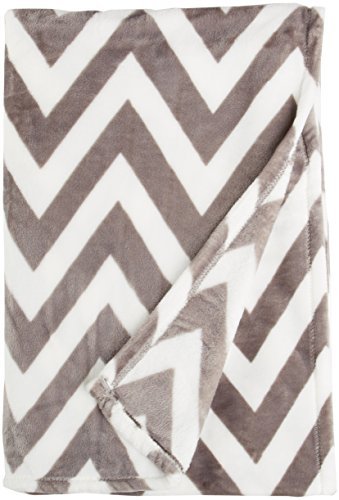 Buy Bargain Northpoint Ruya Oversized Printed Velvet Plush Throw Blanket, 50 by 70-Inch, Chevron