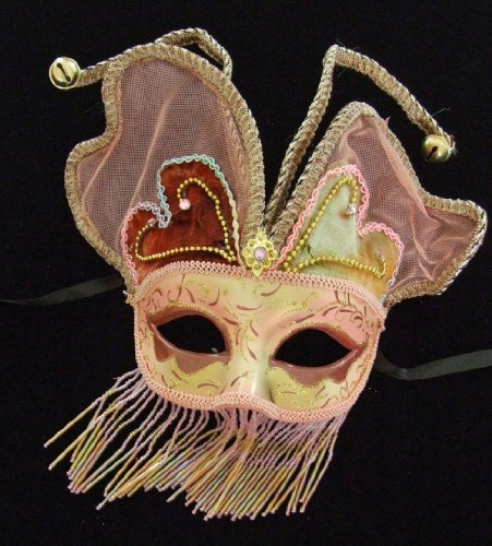 Angel Wings Mask Pink Halloween Costume Mardi Gras Venetian Masquerade Party