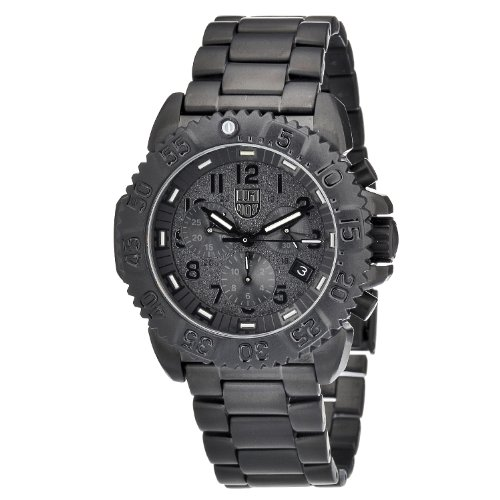 Luminox Men's A.3182.BO Steel Colormark Chronograph Analog Black Watch