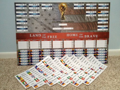 2014 USMNT Soccer Bracket Poster with Stickers
