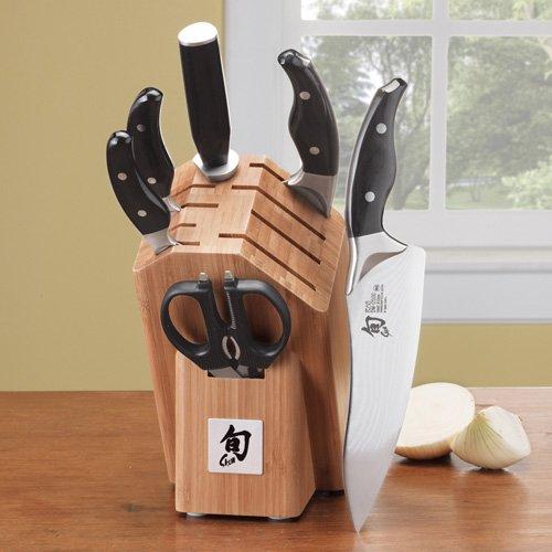 Shun Ken Onion 7 Pc Essential Knife Block Set