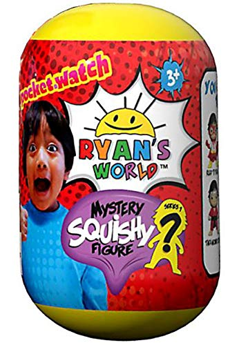 Ryan's World Pocket Watch Mystery Squishy Figure 1 set