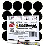 Ziggyboard Chalkboard for Small Spice Jar size Labels with Chalk Marker fit Libbey 4 1/2 Ounce (White, Extra Fine Tip 1/2mm Chalk Marker)