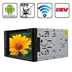 See Rungrace Universal 6.2 inch Android 4.2 Multi-Touch Capacitive Screen In-Dash Car DVD Player with WiFi / GPS / RDS / IPOD / Bluetooth /ATV Details