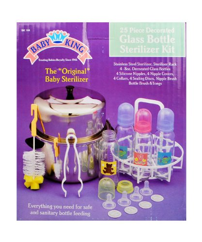 Baby King 25-Piece Glass Bottle Sterilizer Kit - one color, one size