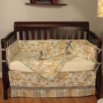 Hoohobbers Cirque Blue 4 Piece Crib Bedding Set - 1