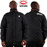 ECKO UNLTD MENS BOYS PADDED QUILTED WINTER DIAMOND BARBOUR STYLE JACKET POLAR PUFFA