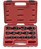Neiko 03324A Metric Chrome-Moly Professional Crowfoot Wrench Set, 15-Piece
